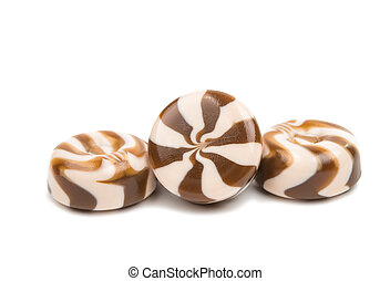 candy on a white background