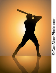 Baseball_Pinch Hitter - A silhouette illustration of a...