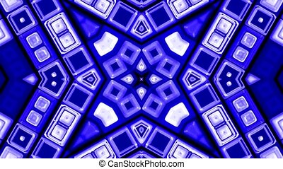 blue deform mosaics background