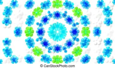 glint wild flower wreath background