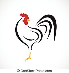 Vector of cock design on white background.