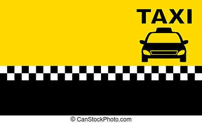 business taxi card with place for text and car