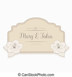 congratulations card design template with hibiscus flowers....