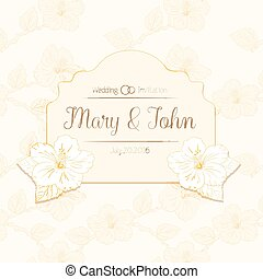 congratulations card design template with hibiscus flowers...