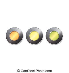 Set of colorful 3d buttons. Vector illustration. One two three - progress steps vector button