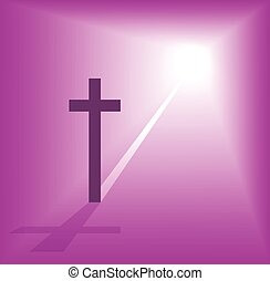 christian cross bright light