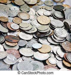 Grego, moedas, cobrança