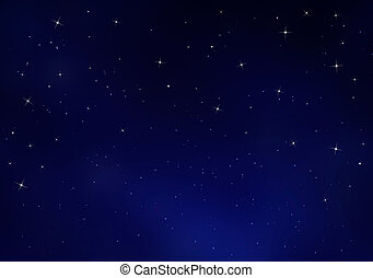 Starry sky, blue background