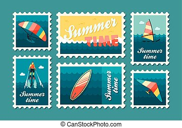 Extreme Water Sport stamp set Summer Vacation - Extreme...