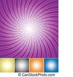 Shining Star - Set of Shining star radiate background vector...