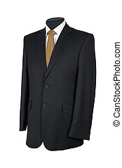 Mans suit isolated on a white background