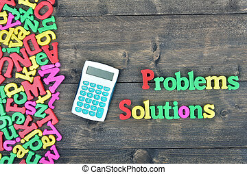 Problems and Solutions on wooden table - Problems and...