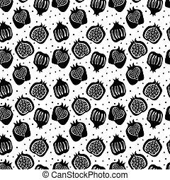 seamless pattern with pomegranate . vector - seamless...