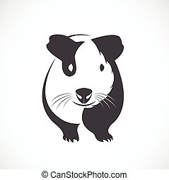 Vector of guinea pig design on white background