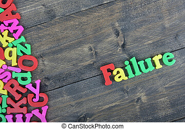 Failure on wooden table