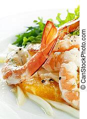 Shrimp Fennel and Orange Salad