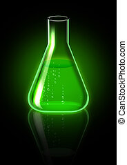 Green Poison - An illustration of green potion in a lab tube