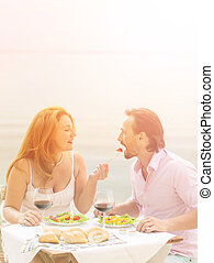 Middle aged couple - Toned picture of beautiful couple...