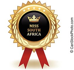 Miss South Africa Award - Gold miss South Africa winning...