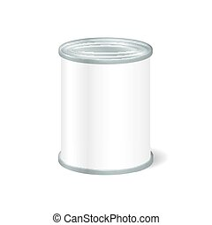 Realistic Blank Tin For Canned Food, Preserve, Conserve Mock...