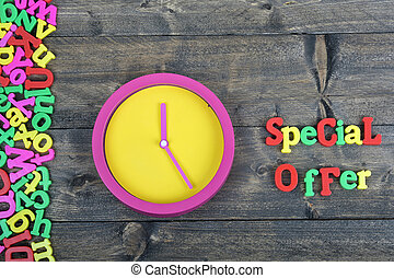 Special offer on wooden table