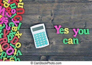 Yes you can on wooden table - Yes you can word on wooden...