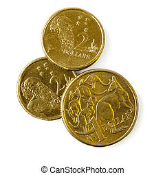 Australian Coins - Australian one dollar and two dollar...