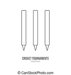 Cricket sport game logotype design concept - Cricket stamps....