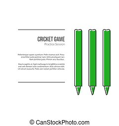 Cricket sport game logotype design concept - Green Cricket...