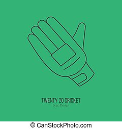Cricket sport game logotype design concept - Cricket glove....