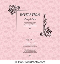 Border with classic floral decorative pattern.