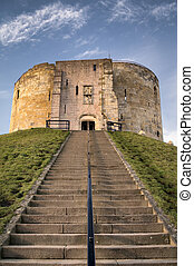 York Castle in the city of York, England, is a fortified...