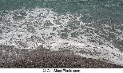 Beach Waves - Waves at Beach of Mediterranean Sea