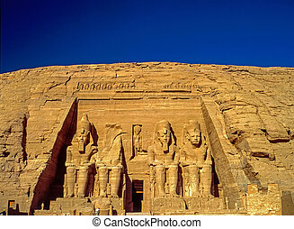 Abu Simbel - Temple in Abu Simbel dedicated to Ramesses II