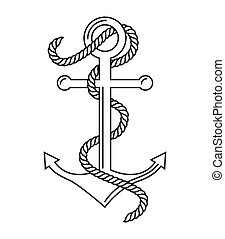 anchor marine symbol icon vector isolated graphic