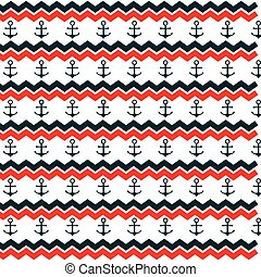 anchor marine symbol pattern icon vector isolated graphic