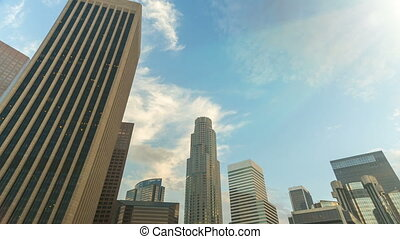 Tilting DTLA Time-lapse - Moving time-lapse of downtown Los...