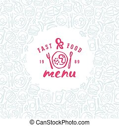 Stock vector fast food cover for menu