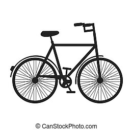 bicycle bike silhouette icon