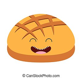 breakfast food character cute icon vector isolated graphic