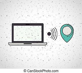 laptop computer portable icon