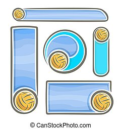 Water Polo for text - Vector abstract logo for Water Polo...