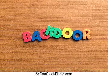 backdoor colorful word colorful word - backdoor colorful...