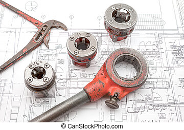 pipe thread cutter - on an plan of an house is there an pipe...