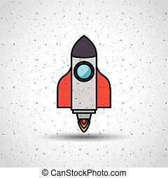 rocket launcher startup icon vector isolated graphic