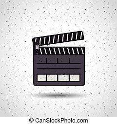 clapper clapperboard production icon vector isolated graphic