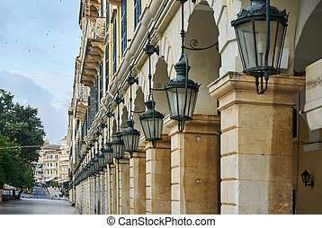 historic center of Corfu - The historic center of Corfu...