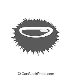 Sea Urchin Vector Flat Design Illustration - Sea urchin...