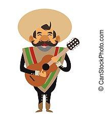 mariachi musician icon - flat design mariachi musician icon...