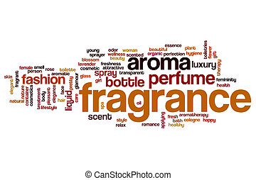 Fragrance word cloud concept - Fragrance word cloud